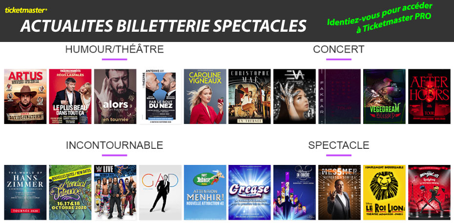 Spectacles Ticketmaster